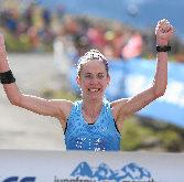 Martina Strähl läuft beim Jungfrau-Marathon Streckenrekord